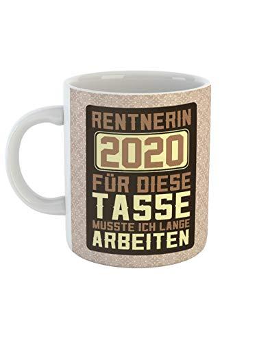 clothinx Ruhestand Rentnerin 2020 Tasse mit Spruch ideal Für Die Verabschiedung Pension Und Rente