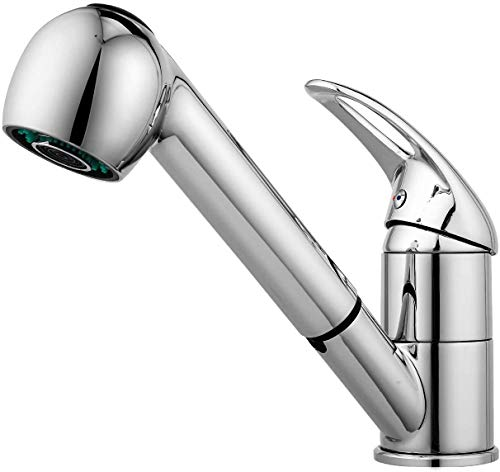 Baulanna Kitchen Faucet, Grifos para fregadero de acero inoxidable, con rociador extraíble, cocina giratoria de 360 °, Fregadero retráctil en caliente y en frío