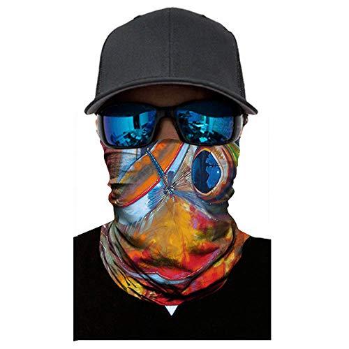 Lazzboy Multifunktionstuch Herren & Damen Atmungsaktiv & Schnelltrocknend Motorrad Gesicht Mundschutz Lustig Chopper Mund-Tuch Halsschlauch Halstuch mit Motiv(G)