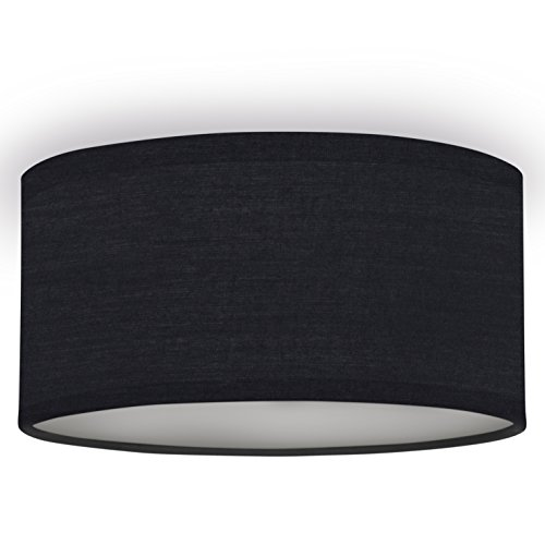 Smartwares 10.004.59 taklampa/textilskärm, 20 cm Ø, 1 x E14, svart
