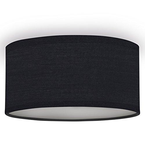 Smartwares 10.004.59 Deckenleuchte/ Textilschirm, 20 cm Ø, 1x E14, schwarz