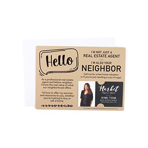 'Hello, I'm not just a Real Estate Agent, I'm also your Neighbor' Mailer Set   Envelopes Included   M8-M003
