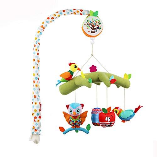 Moonvvin Mobile musical en peluche pour berceau de bébé, décoration de nouveau-né, cadeau à suspendre, clochette, jouets musicaux 35 mélodies