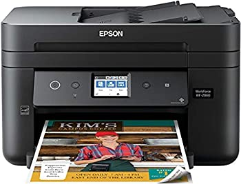 Epson Workforce WF-2860 All-in-One Wireless Color Printer with Scanner Copier Fax Ethernet Wi-Fi Direct and NFC Amazon Dash Replenishment Ready