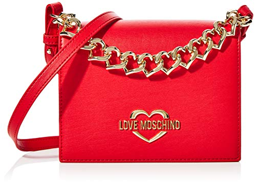 Love Moschino Jc4043pp1a, Borsa a mano Donna, Rosso (Rosso), 8x16x20...
