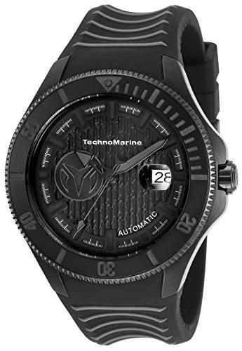 Technomarine TM-118018 - Reloj automático para hombre, esfera negra