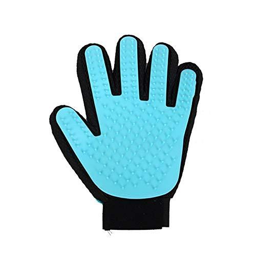 Chongwushua Pet Grooming handschoen, Pet Hair Removal Midts massageborstel gereedschap met verstelbare polsband voor alle huisdieren met kort en lang haar
