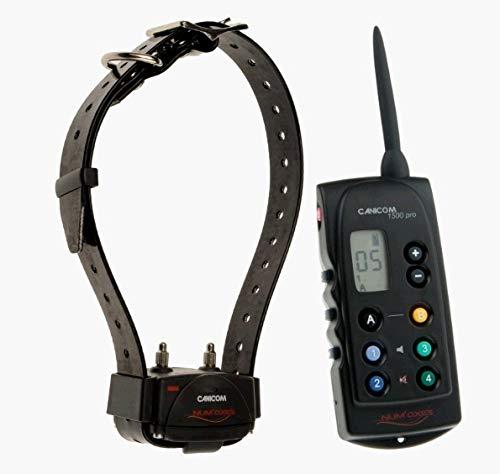 Num'Axes - Collier de Dressage Canicom 1500 PRO Num'Axes - Canicom 1500 Pro, Portée 1500 M, Pour 1 à 2 Chiens