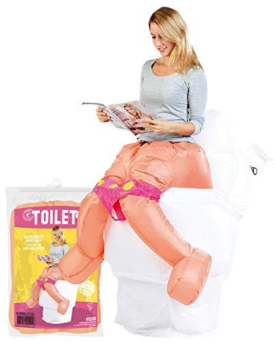 Costume da Toilette Gonfiabile | Costume Gonfiabile Divertente | Dimensione Adulta | Poliestere | Confortevole | Resistente | Sistema di gonfiaggio Incluso | OriginalCup