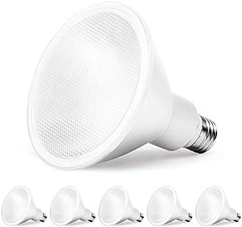 6-Pack Amico 10.5W LED Flood Light Bulb