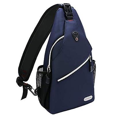 MOSISO Sling Backpack, Multipurpose Crossbody Shoulder Bag Travel Hiking Daypack, Navy Blue from Mosiso