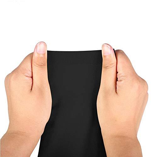Jimfoty Elastische Socke, Vorbeugung von Krampfadern, Kompressionsstrümpfe, Sportsocke, Sport für den Flug mit 20-30 mmHg(XXXL-Black)