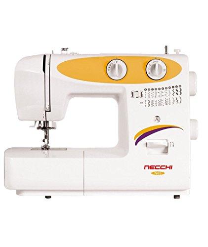 Necchi N85 Eléctrico - Máquina de coser (Blanco, Amarillo, Costura, Paso 4, 4 mm, Giratorio, 5 mm)