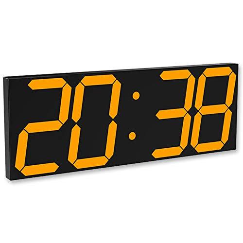 Norte De Europa Reloj Digital Sencillez Sala EstacióN Aeropuerto Lugares PúBlicos DecoracióN Reloj De Pared Led 3D Creatividad Despertador AcríLico Espejo con Mando A Distancia,Orange