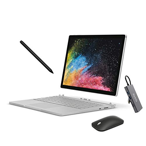 Microsoft Surface Book 2 13.5' Touchscreen (3000x2000) 2-in-1 Laptop, Intel Core i5 Quad-Core, 8GB RAM, 256GB SSD Storage, USB-C, Win10 Pro w/Black Surface Pen, Mobile Mouse, Mytrix USB-C Hub