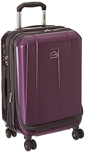 DELSEY Paris Delsey Luggage Helium Shadow 3.0 International Carry On Luggage Front Pocket Hard Case Spinner Suitcase Purple