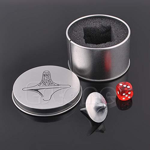 siwetg Inception tótem aleación de zinc plata Spinning Top réplica precisa de dados y caja de regalo