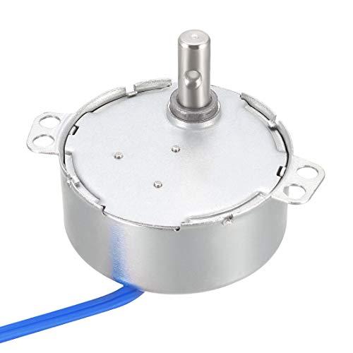 uxcell ハンドメイド用同期モーター AC 100-127V CCW/CW 4W ターンテーブルギアボックス 60-70RPM