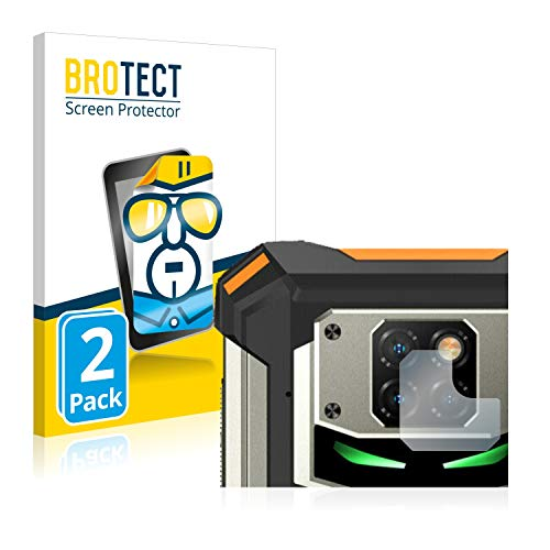 BROTECT Schutzfolie kompatibel mit Doogee S88 Pro (NUR Kamera) (2 Stück) klare Bildschirmschutz-Folie