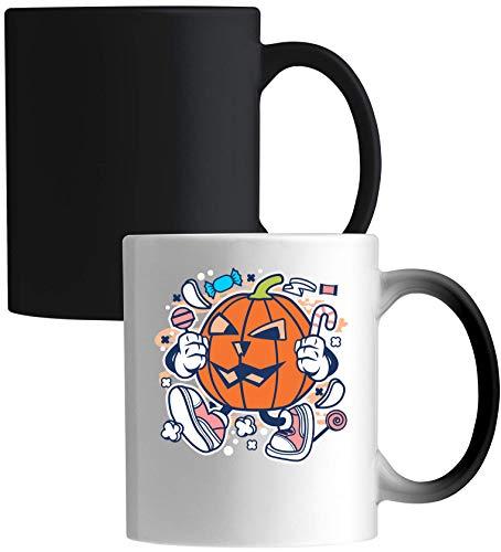 Iprints Cartoon Style pompoen Halloween Trick Or Treat Keramiek Magic Mok