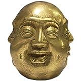 ZCQBCY Cobre Puro Cuatro Estados De Vida: Felicidad Ira Tristeza Felicidad Estatua De Buda De Cuatro Caras Escultura Budista Maitreya, Estatuilla La Oficina En Casa Estatuilla Adornos Decorativos