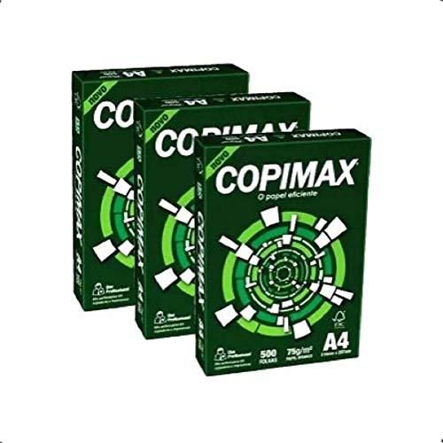 Papel Sulfite A4, Suzano, COPIMAX, 75g, Branco, 500 Folhas