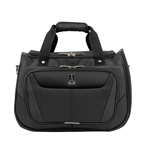 Travelpro Maxlite 5 Carry-on Ultra-Lightweight Travel Duffel Bag Soft Tote 28x46x20 cm Softside and Durable with Trolley Sleeve Polyester 28 Litres Travel Luggage Black Colour 5 Years Warranty