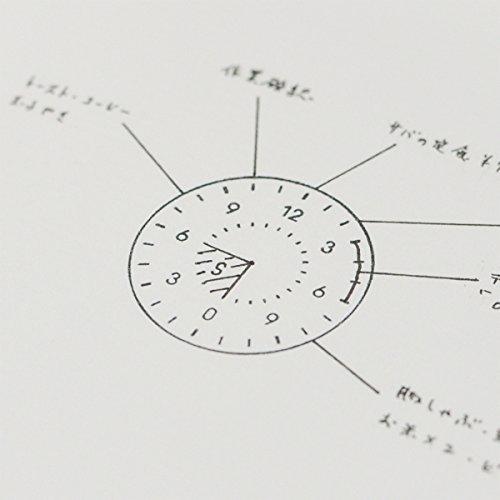多機能なアナログ時計スタンプ:24ミリ幅:12時間:浸透印タイプ:青色インク