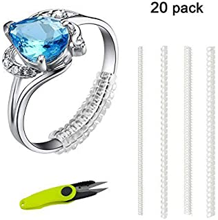 Ring Size Adjuster for Loose Ring Clear Silicone Soft Spiral Ring Tightener Set 16 Pcs in 4 Size Ring Guard