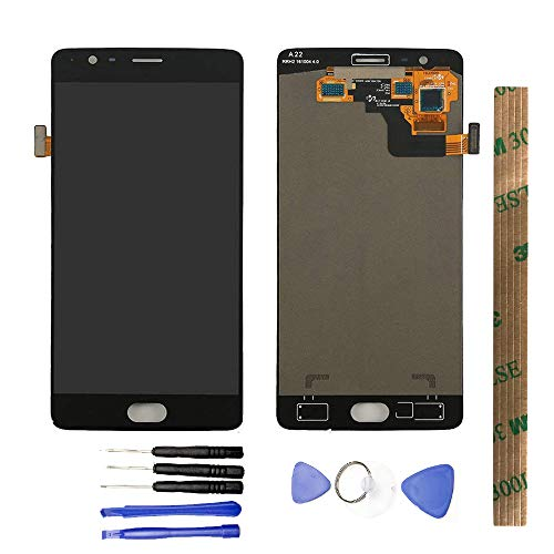 JayTong LCD Display & Replacement Touch Screen Digitizer Assembly with Free Tools for OnePlus 3T A3010 black