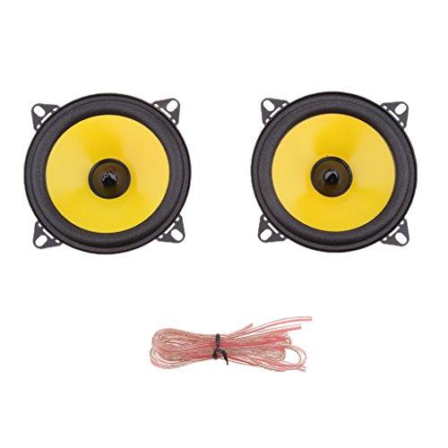 Sharplace Paire Haut-Parleur Coaxiaux 2 Voie 4'' DE Voiture 80W Audio Dôme Tweeter