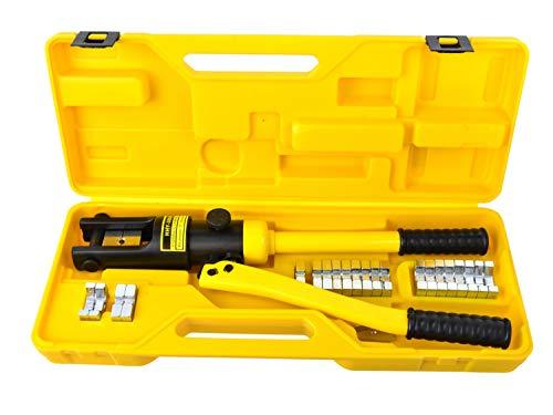 Crimpadora Hidráulica, Alicates de Prensa, Herramienta de Prensa de Terminales de Cable 10-300mm² - 18T