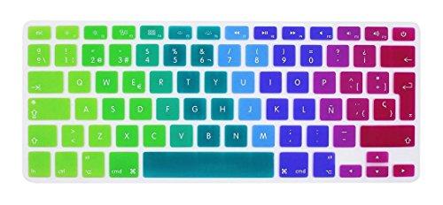 GSuMio Silicona Skin Española Cubierta del teclado para MacBook Pro 13