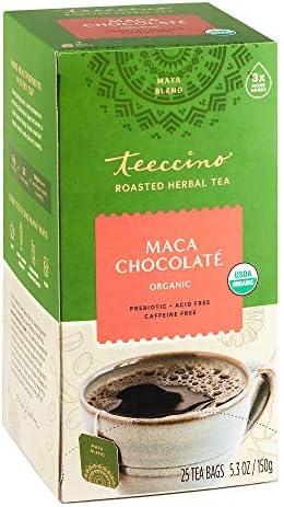 Teeccino Herbal Tea Maca Chocolat Adaptogenic Peruvian Maca Cacao Chicory Prebiotic Caffeine product image