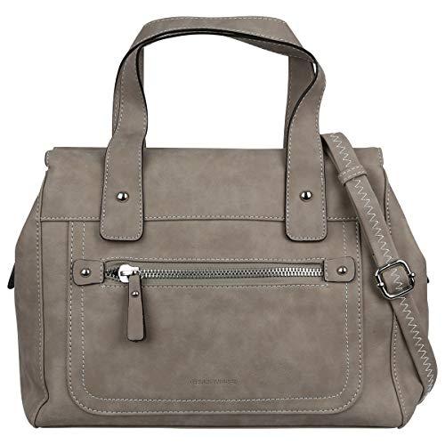 Gerry Weber Best Friend Handbag Bowlingbag Handtasche Schultertasche Tasche 4080003540, Farbe:Taupe