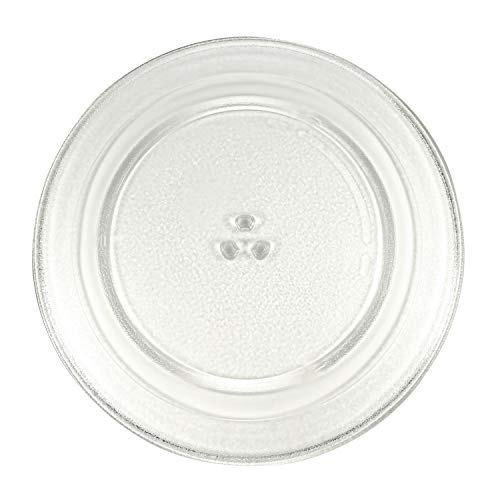 HQRP 15' Glass Turntable Tray Compatible with Sharp Carousel 9KC3517207700 R551 R-551Z R-551ZS R-551ZM R559 R-559Y R-559YK R-559YW SMC1840CS SMC1842CS SMC1843CM Microwave Oven Plate 15-inch 380mm