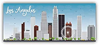 Magnet Los Angeles City View USA Window Truck Car Vinyl Flexible Magnet Magnetic Bumper Sticker 6'' x 3''