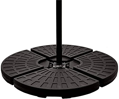 Ram®4 X Heavy Duty Parasol Base Stand Parasol Weights Can be Filled with Water or Sand for Cantilever Banana Hanging...