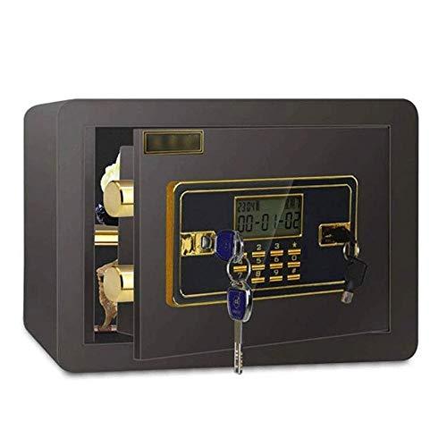HIZLJJ Caja Fuerte, Digital Cajas Fuertes de depósito Seguro del Bloqueo hogar y la Oficina de Seguridad for la joyería Documento Dinero Negro