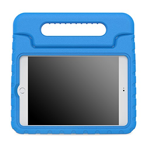 MoKo Case Fit iPad Mini 4 - Kids Shock Proof Convertible Handle Light Weight Super Protective Stand Cover Case Fit iPad Mini 4 2015 Tablet, Blue