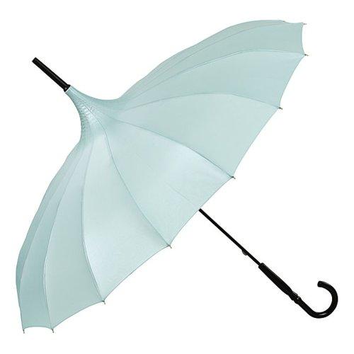 VON LILIENFELD Regenschirm Damen Sonnenschirm Brautschirm Hochzeitsschirm Pagode Cécile Aquamarine metallic