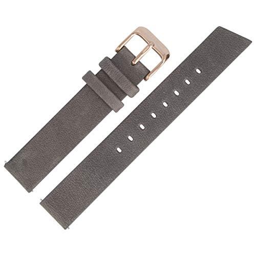 Liebeskind Berlin Uhrenarmband 16mm Leder Grau Glatt - B_LT-0151-LQ