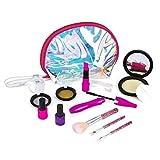 Kacniohen Enfants Pretend Kit de Maquillage, Pretend Jouet Set Jeu de Maquillage pour Les Filles Tout-Petits avec Le Maquillage de Mode Valise coloré 01