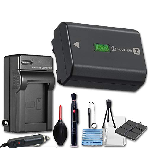 Sony NP-FZ100 Rechargeable Lithium-Ion Battery (2280mAh) + Travel Charger & Deluxe Cleaning Accessories