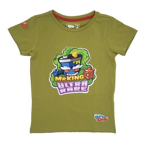 SuperZings Azul, 4-5 Años T-shirt, Mr King Green, 4 Bambino