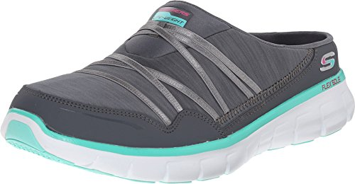 Skechers Sport Women's Air Streamer Slip-On Mule, Charcoal Aqua, 6