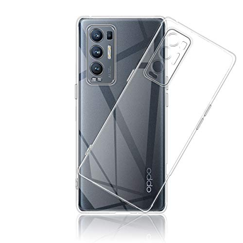 Aerku Hülle für Oppo Find X3 Neo, [Kratzfest] [Anti-Fall] [Stoßdämpfung] Ultra-dünne TPU Silikon Gel-Abdeckung Transparent Hülle Handyhülle für Oppo Find X3 Neo[Transparent]