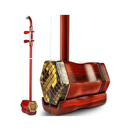Erhu, Palisander Erhu, Anfänger Praxis spielen Erhu Prüfungen, National Instruments, Geschnitzt Modelle (Farbe: Mahagoni) HUERDAIIT (Color : Mahogany)