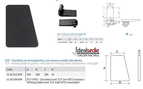 Tavoletta scrittoio in termoplastica, sedia per conferenza con snodo a destra per s (1)