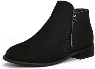 6f8c1935f159b0 Boots Femme Daim Bottine Femmes Plates Basse Cuir Bottes Chelsea Chic  Compensées Grande Taille Talon Chaussures